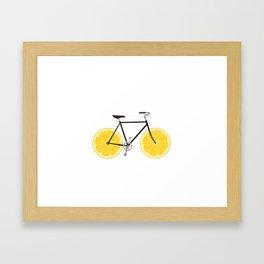Lemon Bike Framed Art Print