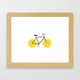 Lemon Bike Framed Art Print
