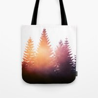 marina and the diamonds Tote Bags featuring Morning Glory by Tordis Kayma
