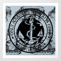 marine Art Prints featuring Marine by CottonMouth