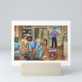 The latex salesman Mini Art Print