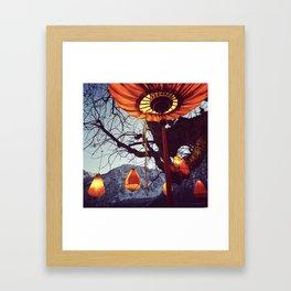 Village Lanterns in Austria Framed Art Print