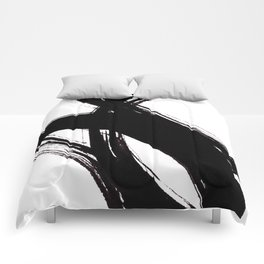 Abstract Wall art, Abstract Print, Black White Abstract Print, Black White Art, Minimalist Print, Ab Comforters