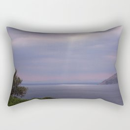 View From Poseidon Temple In Greece Rectangular Pillow