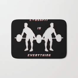Crossfit is everything Bath Mat