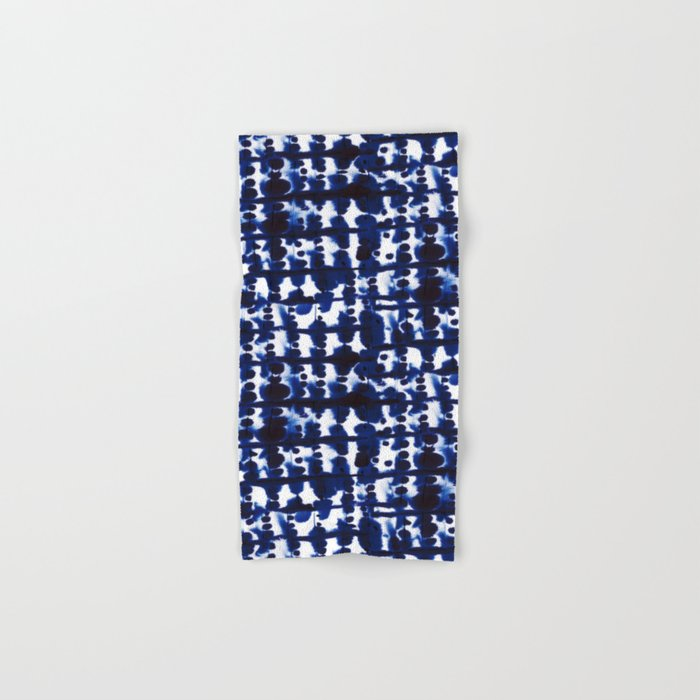 Parallel Indigo Hand & Bath Towel