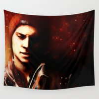infamous Wall Tapestries featuring InFAMOUS: Second Son by Kate Dunn