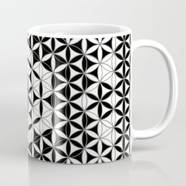 Flower of Life Black White Pattern 9 Coffee Mug