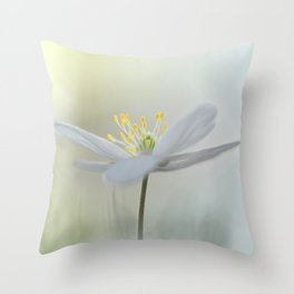 Irresistible Wood Anemone.... Throw Pillow