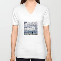 depression V-neck T-shirts featuring Depression by Rothko