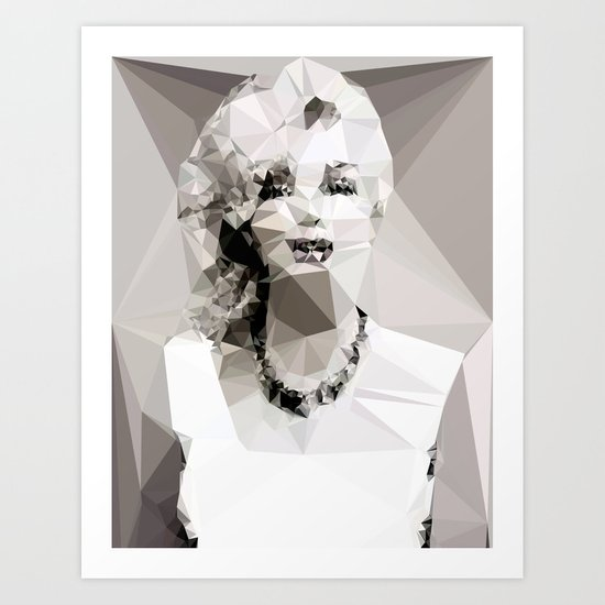 Marilyn Monroe - Geometrics Art Print