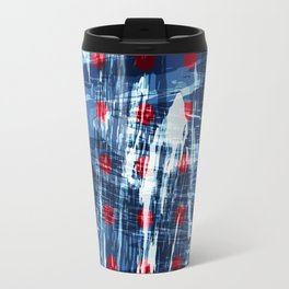 dots on blue ice Travel Mug