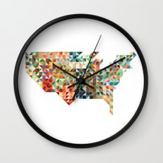 Geometric United States Wall Clock