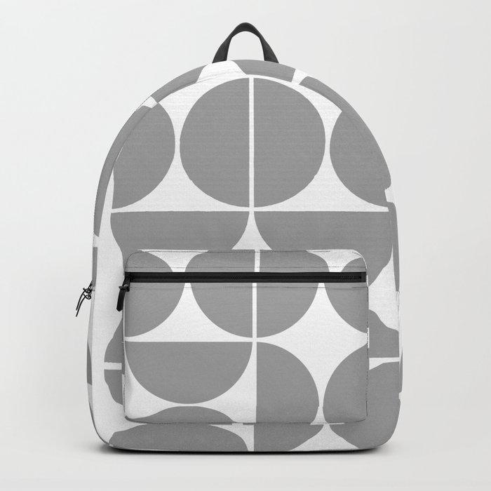 Mid Century Modern Geometric 04 Grey Backpack