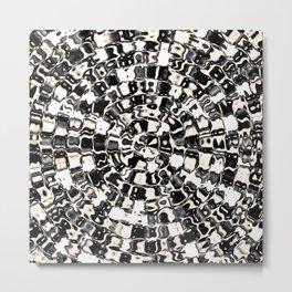 Circular Mosaic Sepias Metal Print