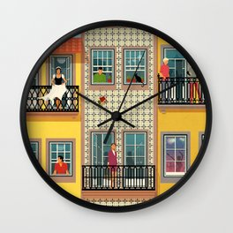 Porto Houses - Portugal Wall Clock