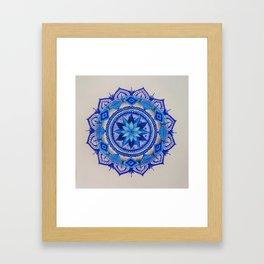 Blue Mandala Framed Art Print