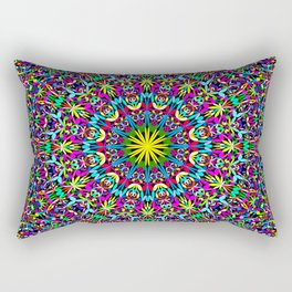 Bohemian Mandala Ornament Rectangular Pillow
