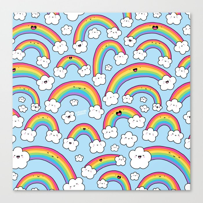 Rainbows Everywhere! Canvas Print