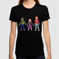 Harry, Hermione, and Ron Black Womens Fitted Tee MEDIUM
