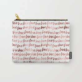 Rose Gold Love Pattern Carry-All Pouch