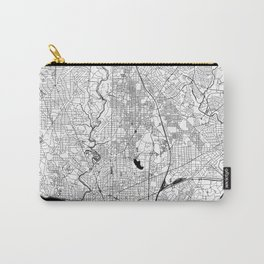 Washington Black and White Map Carry-All Pouch
