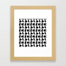 Сlever cats Framed Art Print