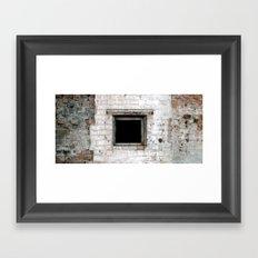 square hole Framed Art Print
