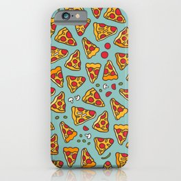 Funny pizza pattern iPhone Case