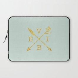 VIBE - Feather Arrow Cross - GOLD Laptop Sleeve