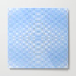 shimmering. blu Metal Print