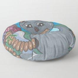 First Date Jitters Bot Floor Pillow