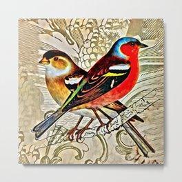 BRIGHT BIRDIES Metal Print