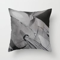 plane Throw Pillows featuring Plane by ann hsieh