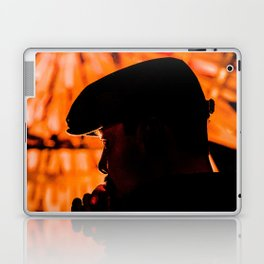 Face profile orange Laptop & iPad Skin