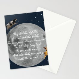 Hey Diddle Diddle! Nursery Rhyme - Child's Room Stationery Cards