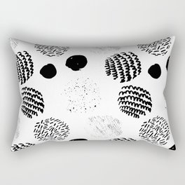 Abstract Hand Drawn Patterns No.5 Rectangular Pillow