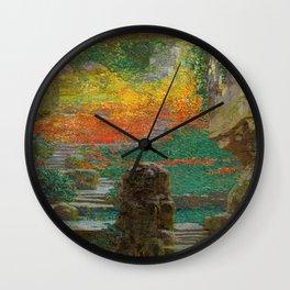 Autumn in the Green Grotto by Karel Vitezslav Masek Wall Clock