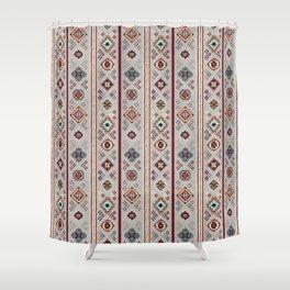 Caucasian Rugs(Stripe) - White Shower Curtain