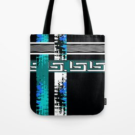 Vintage .Art . Intertwining colored bands . Retro . Tote Bag