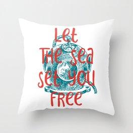 Let The Sea Set You Free #2 Throw Pillow