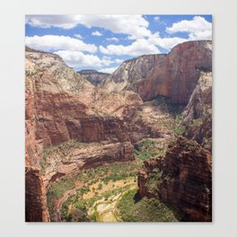 Zion Canyon from Angels Landing Canvas Print