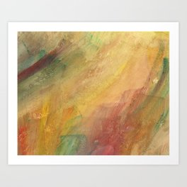 Golden Rain Abstract Art Print