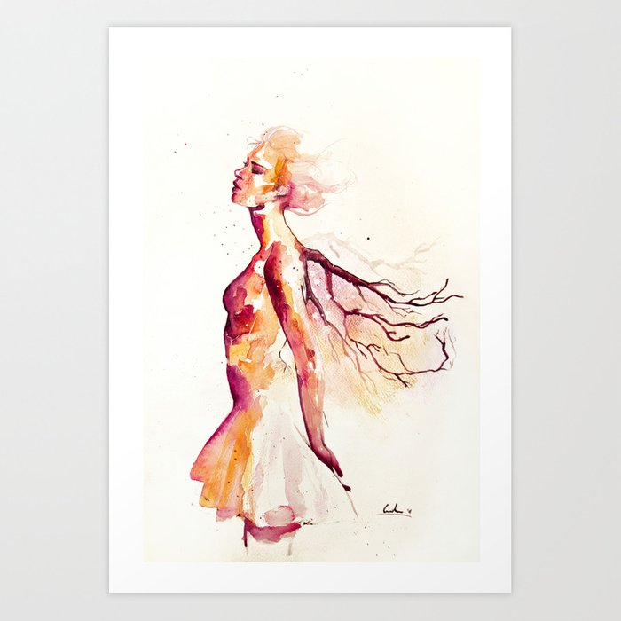 Discover the motif COMES LIGHT by Agnes Cecile as a print at TOPPOSTER