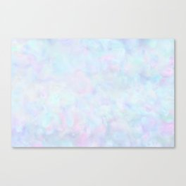 Rainbow Unicorn Pastel Fluffiness Canvas Print