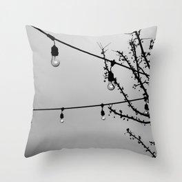 Winter Patio Throw Pillow