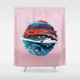 ACRYLIC BALL ABSTRACT // 3D ABSTRACT Shower Curtain