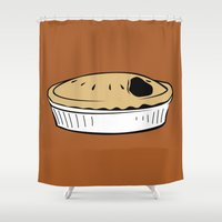 pie Shower Curtains featuring American Pie by FilmsQuiz