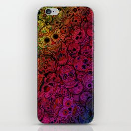 Rainbow Sugar Skulls iPhone Skin