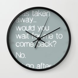 If One Day... Wall Clock